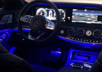 Taxiservice Heilbronn Innenausstattung Fahrer Beleuchtung
